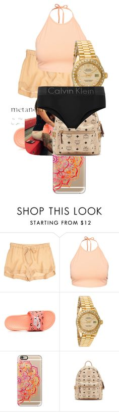 """""""19"""" by makkisme ❤ liked on Polyvore featuring A.L.C., NLY Trend, NIKE, Rolex, Casetify, MCM and Calvin Klein Underwear"""
