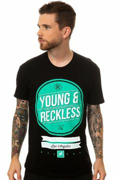 Young & Reckless Men's Trademarked Tee Small Black $24.00 #Young #Reckless