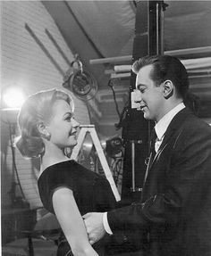 Sandra Dee & Bobby Darin on the set of 'If a Man Answer's.' 1961