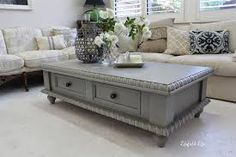 Storage Trunk Coffee Table Grey Or Antique White For The Home - Grey chest coffee table