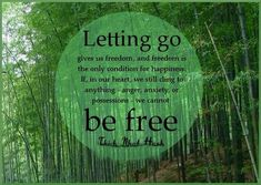 Letting go gives us freedom, and freedom is the only condition for happiness. If, in our heart, we still cling to anything - anger, anxiety, or possessions - we cannot be free. Thich Nhat Hanh #freedom #quotes #letgo