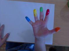 Cada dedo tem um nome, cada dedo um pincel.