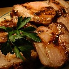 Balsamic Roasted Pork Loin Recipe - Allrecipes.com.  I made this tonight...yum!