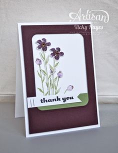 Stampin' Up ideas and supplies from Vicky at Crafting Clare's Paper Moments: Card and box made with Painted Petals and Blooms from Stampin' Up