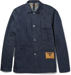 Mr Nigel Cabourn is inspired by vintage garments, especially utility wear. This jacket is cut from his specifically constructed 'Lybro' denim - a Japanese-made cotton cloth true to the original fabric used in the Lybro factories of the mid-20th century. This practical piece has three front patch pockets as well as a fourth on the inside.