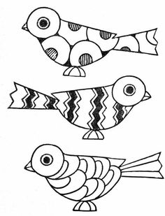 Embroidery Patterns art deco birds from paint book Mosaic Patterns, Embroidery Patterns, Hand Embroidery, Colouring Pages, Coloring Books, Painted Books, Art Plastique, Bird Art, Mosaic Art