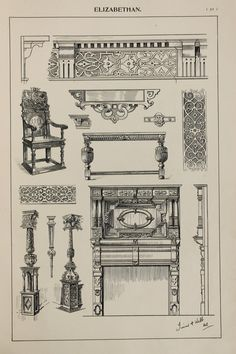 Hey, I found this really awesome Etsy listing at https://www.etsy.com/listing/237858259/england-elizabethan-furniture-designs