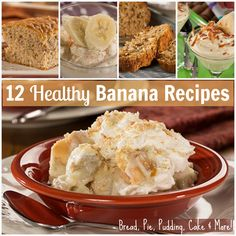 Healthy Banana Recipes: Check out everything from banana pudding, to banana bread, and cake. Who doesn't love banana desserts?!