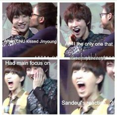 OMG!!! I laughed so hard at Sandeul's reaction! Lmbo!!!