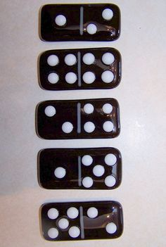 Fused Glass Dominoes Fridge Office Magnets by shards57 on Etsy, $25.00