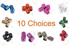 Decorative Bicycle Valve Capss - 4 Pieces of eXotic Anodized Alloy Schrader Valve Caps in a Choice of 10 Colors -- You can find more details by visiting the image link.