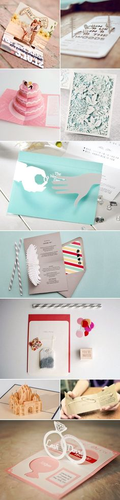 17 Creative 3D wedding Invites - Gifts