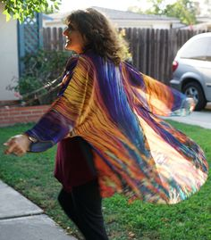 """""""The Arbor"""" Crystal Kimono features a striking print and rich colors, which are a photograph of menthol crystals!    https://crystalartoutfitters.com/products/the-arbor-crystal-kimono"""