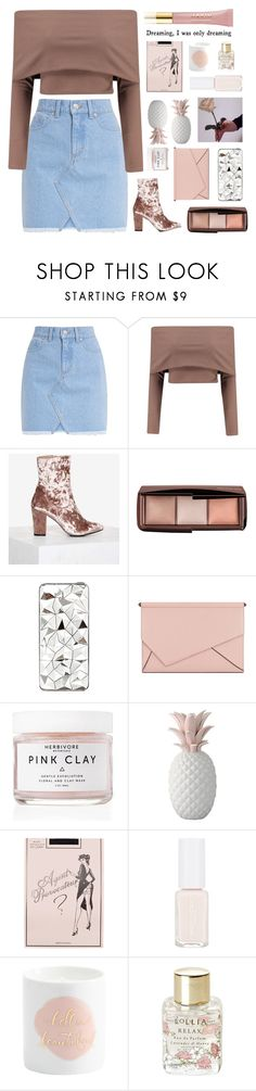 """Untitled #2967"" by tacoxcat ❤ liked on Polyvore featuring Boohoo, Nasty Gal, Hourglass Cosmetics, River Island, Kendall + Kylie, Herbivore, Giambattista Valli, Agent Provocateur, Lollia and AERIN"