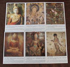 Lot of 22 China UNESCO Postcards Silk Road Dunhuang Buddha Temple Fresco | eBay