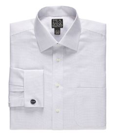 Signature Wrinkle-Free Spread Collar Tailored Fit Dress Shirt