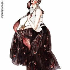 #Repost @rebeccafeneley with @repostapp ・・・ SURPRISE ART SATURDAY! Here's my new piece I just finished: 'Mon Garde', featuring Lara wearing @dior SS17 ❤️❤️❤️ #DIOR #SS17 #MariaGraziaChiuri #DiorSS17 #fashion #illustration #fencing #heart #fantasy #detail #fashionillustration #fashionart #drawing #fencing #sword #art #instaart #ink #fashionsketch #fashiondrawing #tulle #gown #fairytale #arte #fashionsketch #fashionillustrator #illustrator #drawadot