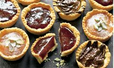 Dan Lepard's jam tarts: Crisp pastry combined with sticky, gooey, tasty fillings – what's not to like? Photograph: Colin Campbell for the Gu...