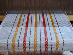Which of course was last year, when this lovely woodcut print was imagined and produced by Oregon artist Midge Black . Weaving Textiles, Weaving Patterns, Tapestry Weaving, Dish Towels, Tea Towels, Loom Weaving, Hand Weaving, Stitch Witchery, Weaving Projects