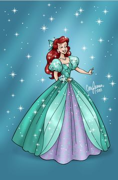 This reminds me of the dress they have in the Christmas parade at Disneyland right now! Gorgeous!!