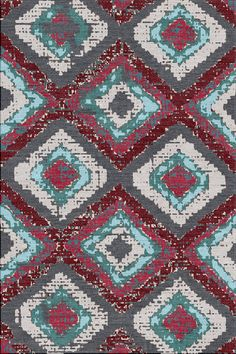 Rug design concept inspired by African textiles