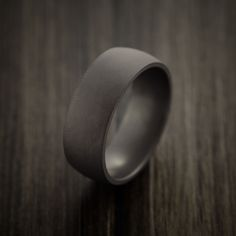 Elysium Black Diamond Wedding Band Domed with Matte Finish - Revolution Jewelry  - 3