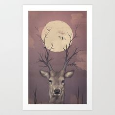 Deer Soul Art Print by Federico Detor Simoni - $20.00