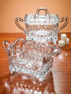 Fine Etched-Crystal Sugar & Creamer Set, Crafted In Centuries-Old Irish Tradition