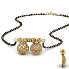 Cluster Diamond Wati Mangalsutra In Yellow Gold Diamond Mangalsutra, Gold Mangalsutra Designs, Gold Jewellery Design, Antique Jewellery, Mangalsutra Bracelet, Bridal Jewellery, Gold Jhumka Earrings, Gold Jewelry Simple, Jewelery