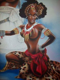 """""""OYA, Goddess of The Winds and Storms"""". Legend in """"The GODDESSES / Psychology of Female Power"""" by, Iya Afin, Ayobunmi Sangode"""
