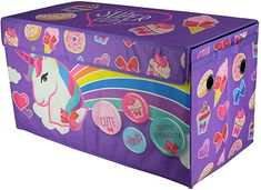 LOL Surprise Collapsible Storage Toy Trunk Organizer Box Chest Christmas Gift for sale online Toy Storage Boxes, Storage Trunk, Toy Boxes, Toy Trunk, Unicorn Rooms, Trunk Organization, Organiser Box, Jojo Siwa, Cute Unicorn