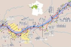 Plan your perfect road trip in the Loire Valley, the beautiful UNESCO heritage-listed area in France, visiting all the famous chateaux and more! France Map, Tours France, France Travel, Travel Europe, Loire Castles, Paris, Loire Valley France, Australia Tourism, South Australia