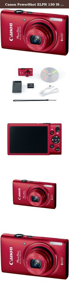 Canon PowerShot ELPH 130 IS 16.0 MP Digital Camera with 8x Optical Zoom 28mm Wide-Angle Lens and 720p HD Video Recording (Red) (Discontinued by Manufacturer). The Canon PowerShot ELPH 130 IS Compact Digital Camera with 16 megapixels keeps you connected with built-in Wi-Fi so it's easier than ever to share your images with friends, family and the world. An enhanced feature allows you to post directly from your camera to social networking sites, or upload to CANON iMAGE GATEWAY for more...