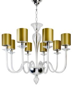 Grace Murano Chandelier  Contemporary, Traditional, Glass, Ceiling by Villaverde London