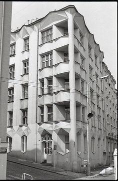 Apartment building on Neklanova 30    Vysehrad, Prague, Czech Republic  Architect Josef Chochol (1913-1914)