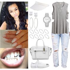 A fashion look from September 2014 featuring H&M tops, Hush jeans and Converse sneakers. Browse and shop related looks.