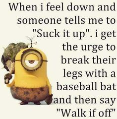 Minions are Awesome, Funny & cute ! Just like Funny Minions, There some memes are also extreme hilarious . So here are some very funny minion memes, they wi. Minion Humour, Funny Minion Memes, Funny Jokes To Tell, Minions Quotes, Funny Humour, Minion Sayings, Smiley Quotes, Corny Jokes, Hilarious Jokes