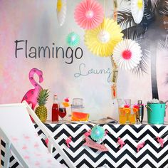 Die Flamingo-Party kann steigen :-) #flamingo #party #sommer #dekoidee