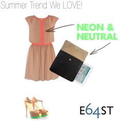 Our favorite summer trend? #Neon and #neutrals, of course! #E64ST