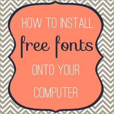 How to install free fun fonts on your computer