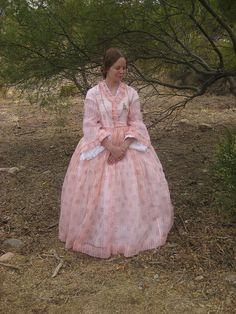1860's Sheer Cotton Dress