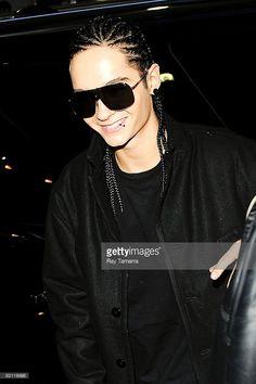 Musician Tom Kaulitz, of Tokio Hotel, enters Best Buy on October 20, 2009 in New York City.