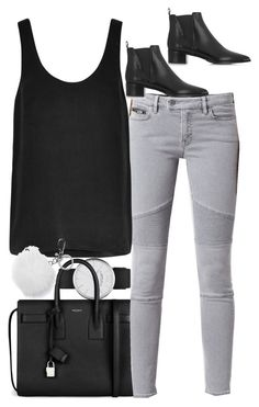 """""""Untitled #3659"""" by amyn99 ❤ liked on Polyvore featuring Marc Jacobs, Yves Saint Laurent, AllSaints, Equipment, Acne Studios and Michael Kors"""