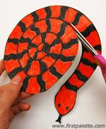 Step by step - Paper Spiral Snake craft Chinese Year of the Snake