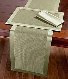 Dillard's Wedding, Baby & Gift Registry Table linens Patchwork Table Runner, Table Runner And Placemats, Burlap Table Runners, Table Runner Pattern, Dining Table Cloth, Table Linens, Burlap Crafts, Diy Home Crafts, Rustic Placemats