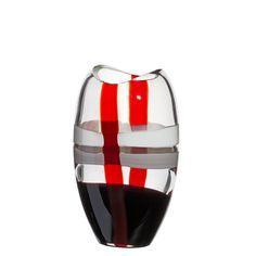 """Vase """"Ellisse"""" - Modell 1751/R.B - Größe Small - Carlo Moretti - Murano Glas"""