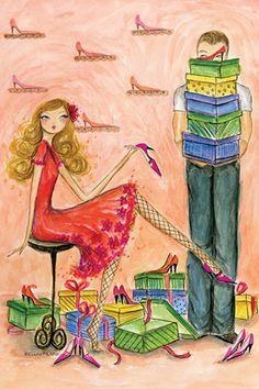 """Best dress """"Shoe Shopping"""" By Bella Pilar Canvas Print #BPR29"""