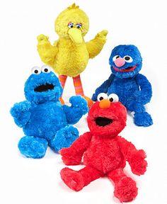 Gund Seasame Street Big Bird, Elmo, Cookie Monster or Grover Doll - Kids Toys & Games - Macy's