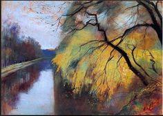 """Lesser Ury (1861-1931) """" River."""""""