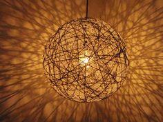 DIY hanging sphere light